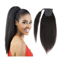 Afro kinky hair ponytail...